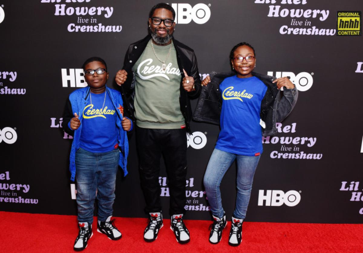Lil Rel and his kids at HBO Premiere