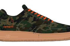 Carhartt x Nike Air Force 1 Low Collabs Coming Soon