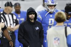 Eminem Serves As Honorary Captain At Detroit Lions' Season Opener