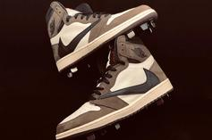 "Yankees' Clint Frazier Debuts ""Cactus Jack"" Air Jordan 1 Cleats"