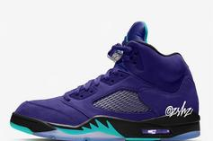 "Air Jordan 5 ""Grape"" Releasing In Purple Colorway"