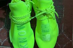 """Pharrell Williams X Adidas NMD Hu Revealed In """"Volt"""" Colorway: First Look"""