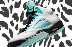 "Air Jordan 5 ""Island Green"" Reflective Detailing Revealed: Watch"