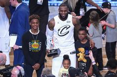 LeBron James' Son Bryce Goes 1-On-1 With Dwyane Wade: Watch