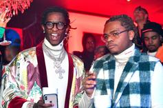 "Gunna & Young Thug's ""Dollaz On My Head"" Goes Platinum"
