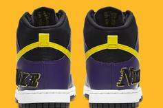 """Nike Dunk High """"Lakers"""" Drops This Month: Official Photos"""