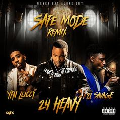 "YFN Lucci & 21 Savage Join 24 Heavy On New Remix To ""Safe Mode"""
