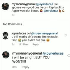 "Mysonne Disses Joyner Lucas On His ""Litty / ZEZE"" Freestyle.."