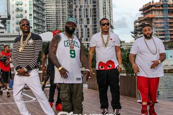 """BTS Photos: Video Shoot For DJ Khaled's """"They Don't Love You No More"""" With Meek Mill, French Montana & Rick Ross"""