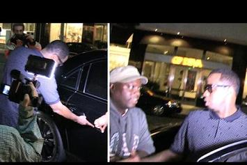 Diddy Gets His Maybach Scratched Up By The Paparazzi