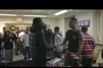 Meek Mill Gives Out Gifts At Philly Group Home