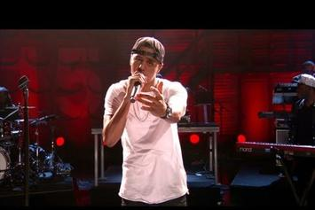 """J. Cole """"""""Crooked Smile"""" Live On Conan"""" Video"""