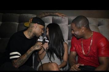 "Chris Brown Feat. Tank ""Chris Brown Interviews Tank and Gets Frisky with HotNewHipHop Host ('Shots Fired' Behind-The-Scenes) "" Video"