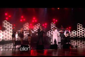 """Robin Thicke Feat. Pharrell """"Performs """"Blurred Lines"""" (Live On Ellen)"""" Video"""