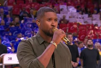 Usher Sings National Anthem Before Game 4 Of NBA Finals