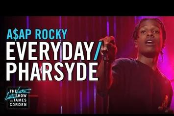 """ASAP Rocky Performs """"Everyday"""" & """"Pharsyde"""" On The Late Late Show"""