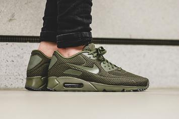"""Stay Cool In This Nike Air Max 90 """"Medium Olive"""" Ultra BR"""
