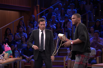Watch Russell Westbrook Test Out His Football Skills With Jimmy Fallon