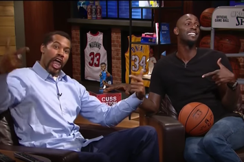 """Watch Kevin Garnett And Rasheed Wallace Test Out The """"Cuss Button"""""""