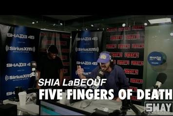 "Watch Shia LaBeouf Slaughter His ""5 Fingers of Death"" Freestyle On Sway"