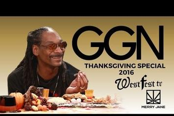 Watch Snoop Dogg Eat Thanksgiving Dinner With Daz Dillinger, Too Short, Christina Milian & More On GGN