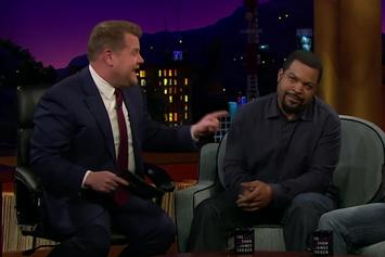 "Watch James Corden ""Destroy"" Ice Cube In 1-On-1 Basketball"