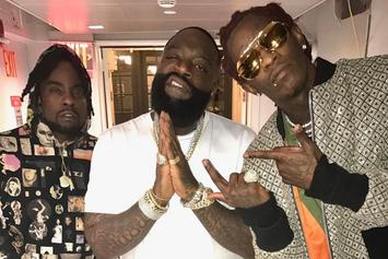 """Watch Rick Ross, Young Thug, & Wale Perform """"Trap Trap Trap"""" On The Tonight Show"""
