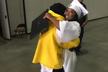 Lil Wayne Makes It To Daughter's Graduation