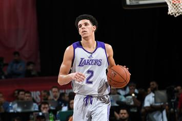 """Lonzo Ball Laces Up Nikes Instead Of Big Baller Brand: """"Mamba Mentality"""""""