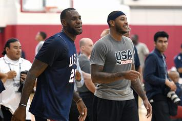 Watch LeBron, Carmelo, Durant And Others Go Off In Pickup Hoops
