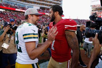 """Rodgers Supports Colin Kaepernick: """"He Should Be On A Roster"""""""