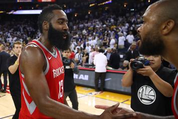James Harden & Mario Chalmers Involved In On-Court Scuffle; Twitter Reacts