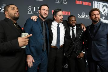 """50 Cent's Son Sire Joins His Dad On The """"Den Of Thieves"""" Red Carpet"""