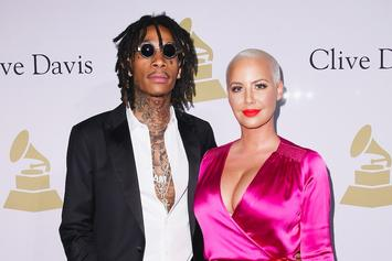 "Wiz Khalifa & Amber Rose Don ""Suicide Squad"" Costumes For Son Bash's Birthday"