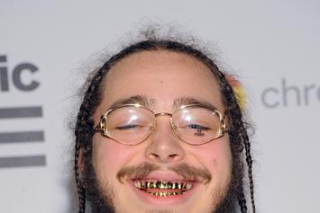 A Photo Of Post Malone Grabbing Justin Bieber By The Throat Surfaces