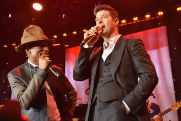 """Pharrell & Robin Thicke's """"Blurred Lines"""" Copyright Case In Favour Of Marvin Gaye"""