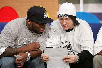 Eminem Still Figuring Out How His Phone Works With Awkward 50 Cent Selfie