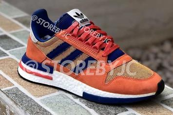 "Dragon Ball Z x Adidas ZX500 RM ""Son Goku"": First Look"
