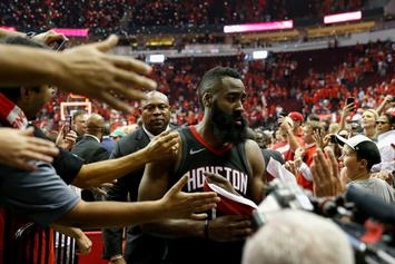 James Harden Slaps Phone Of Heckling Jazz Fan