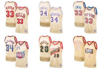 "Mitchell & Ness Release ""Gold Series"" NBA Jerseys & Shorts"