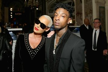 21 Savage Cut Amber Rose Off After She Allegedly Cheated With His Friend