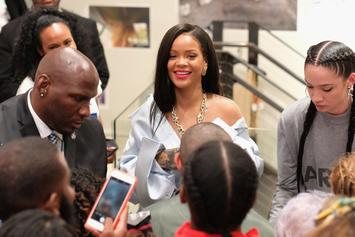"""Rihanna Turns Up To Rich The Kid's """"Plug Walk"""" With Fans At Her Stance Foundation"""