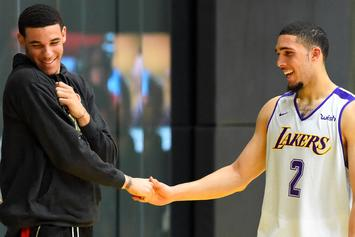 "Lonzo Ball & LiAngelo Ball Rep Big Baller Brand In ""We Do It For The Fans"""