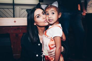 Kim Kardashian Catches North West Applying Blue Eyeshadow All Over Her Face