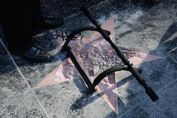 Watch Donald Trump's Walk Of Fame Star Get Smashed To Smithereens