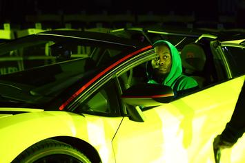 """Offset Lights One Up While Stunting His """"Green Lantern Lambo"""""""