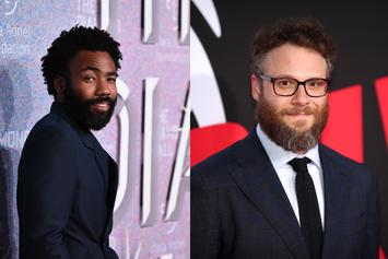 "Donald Glover & Seth Rogen Pictured During ""Lion King"" Voice Recording Session"