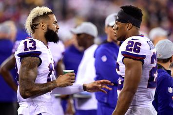 """Odell Beckham Jr. On Cramping Issues: """"I Don't Like Water"""""""
