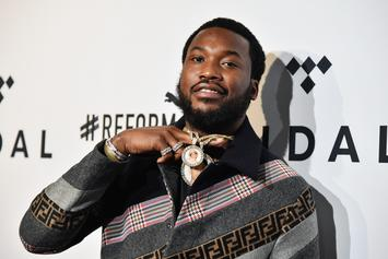 """Meek Mill Scores First Top 10 Single On Hot 100 With """"Going Bad"""" With Drake"""