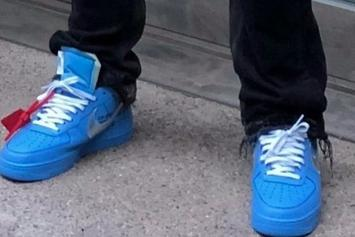 Virgil Abloh Introduces Off-White x Nike Air Force 1 Low Blue Colorway